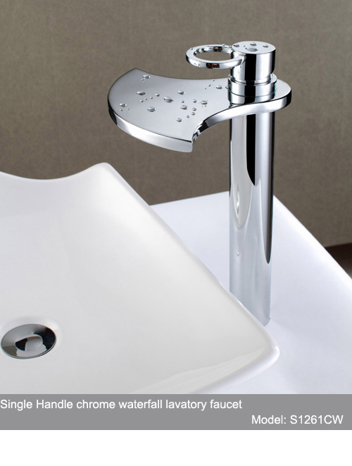 sumerain sanitary wares waterfall faucet faucets led high end waterfall single handle gooseneck kitchen faucets